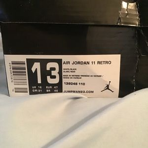 Jordan Shoes - Black Air Jordan 11